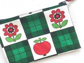 レトロポーチ(Apple Flower /ヴィンテージ生地)の画像