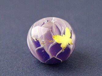 蓮と蝶 -紫-の画像