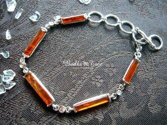 オレンジカイヤナイト(カヤナイト)SV925ブレスレットの画像