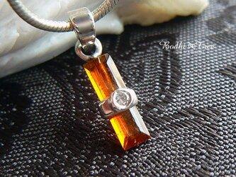 オレンジカイヤナイト(カヤナイト)&ジルコン・SVペンダントの画像