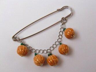 おばけかぼちゃのブローチ(ベージュ)の画像