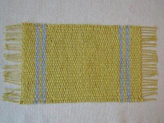手織り 麻糸マット・2の画像