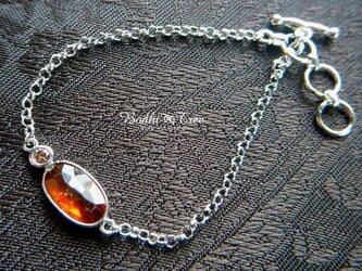 オレンジカイヤナイト(カヤナイト)&ダイヤモンド・SVブレスレットの画像
