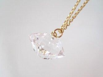 ダイヤモンドクォーツの原石ネックレス/Pakistan[02] 14KGFの画像