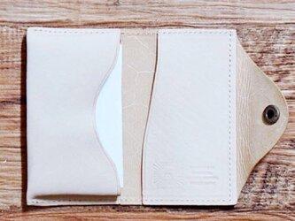 ブエブロレザー 名刺入れ 軽やかな姫路のホースレザーをしっかりと縫製しました ナチュラル 名入れできますの画像