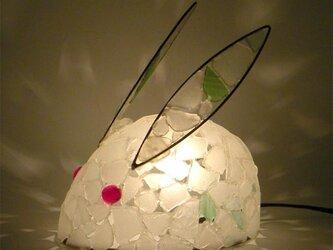 白うさぎのランプ-1の画像