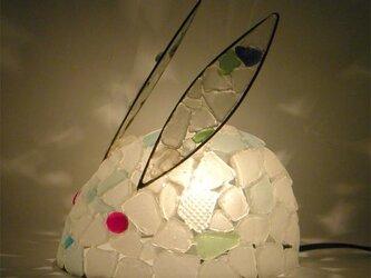 白うさぎのランプ-2の画像