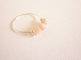 Pink オパール Wire Ring の画像