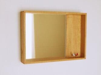 木製 箱鏡 桜材5の画像