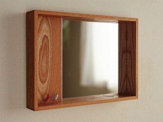はこ鏡 欅(ケヤキ)材①の画像