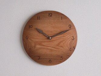 掛け時計 丸 楢(ナラ)材21の画像