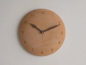 掛け時計 丸 ブナ材2の画像