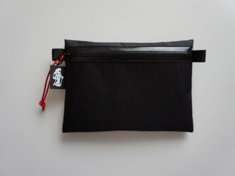 flat pouch M  x-pac  Blackの画像