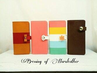 本革の長財布 カラーとデザインが選べます☆レザーロングウォレットの画像