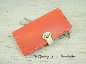 猫の肉球 本革の長財布 カラーとデザインが選べます☆レザーロングウォレットの画像