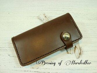 コンチョフラップ 本革の長財布 カラーとデザインが選べます☆レザーロングウォレットの画像