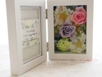 フォトフレーム(縦置)お花畑シリーズ・ピンクパープルの画像
