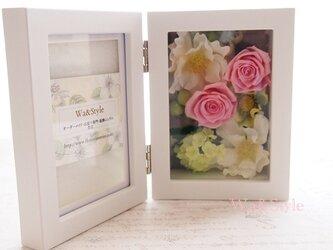 フォトフレーム(縦置)お花畑シリーズ・ピンクの画像