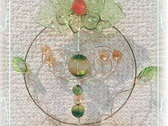 桜月 サンキャッチャー 緑のグラデーションの画像