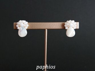 再々販[ピアス] tubutubu petit/whiteの画像