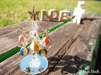 【SALE】クリスマスツリー(ポップカラー・オーナメント)の画像