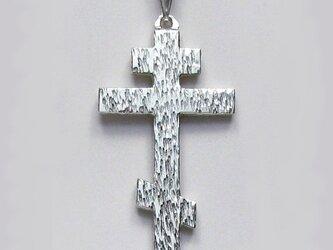ロシア正教のクロス 木肌光沢仕上げの大きなロシア十字架 rc67 好評ですの画像