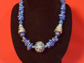 idolaトンボ玉ネックレス ブルーの画像