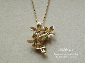 【14kgpチェーン】  gold bouquet necklaceの画像