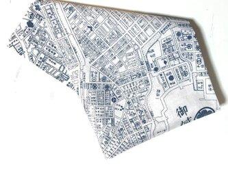 古地図が好き♪ 江戸古地図バンダナ白の画像