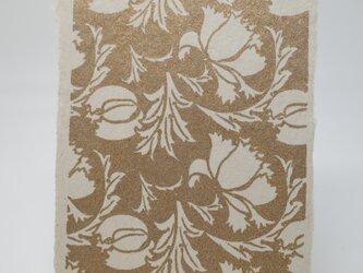 ギルディング和紙葉書 芥子の花 黄混合箔の画像