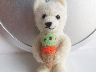 白熊・しろくま DE アイスクリーム ストラップの画像
