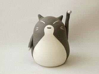 招き猫(小・左手) / 陶器の招き猫、お客さんや友達など人を招くといわれる左手あげの画像