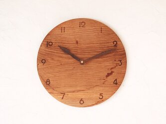 掛け時計 丸 楢(ナラ)材20の画像