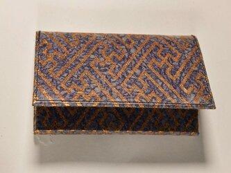 ギルディング和紙カードケース 紗綾紫地銅箔の画像
