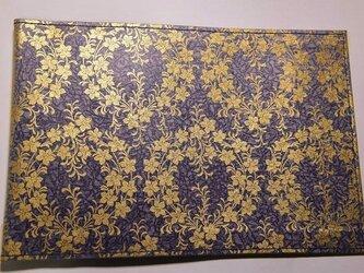 ギルディング和紙ブックカバー 桔梗紫地金箔の画像