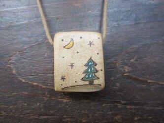 再販:絵のくびかざり(月と木)bの画像