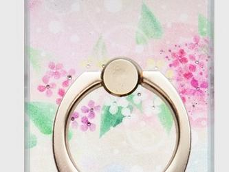 送料無料★スマホリング★ 【暮らしに花を】Mariko Hirai*シャボン玉アートパステルの画像