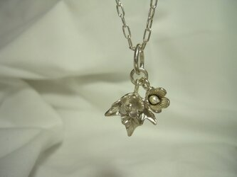 c-32 カレンシルバービーズのネックレスの画像