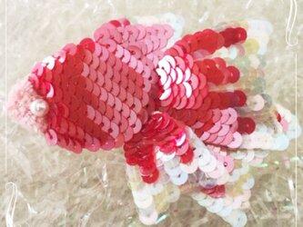 Poisson rouge 金魚のブローチ ルージュの画像