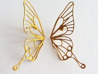 Butterfly(L) piercings / 縦着ピアス / 18KGPの画像