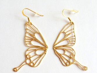 Butterfly(L) pierces / フックピアス / 18KGPの画像