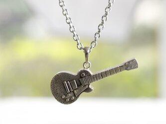 Sv ギター ペンダントネックレス(キーホルダー金具付き)の画像