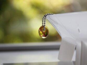 蜻蛉玉のプチネックレス(橙)2016-08の画像