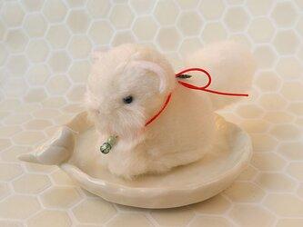 【再販】ちいさなぬいぐるみ 白狐和風の画像