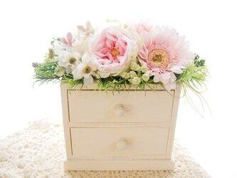 お花が可愛い小物入れ-ピンク3の画像