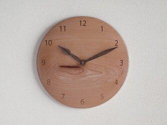 掛け時計 丸 ブナ材4の画像