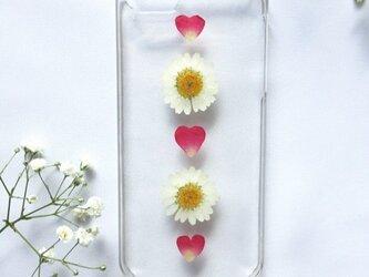 iPhoneケース お花とハートの画像