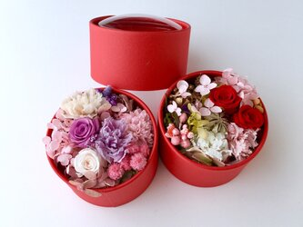 Flower redbox preserved flowersの画像
