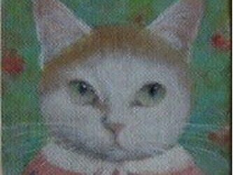 ぶちねこ・ピンク(売約済)の画像