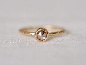Old Cut Champagne Gold Diamond Ringの画像